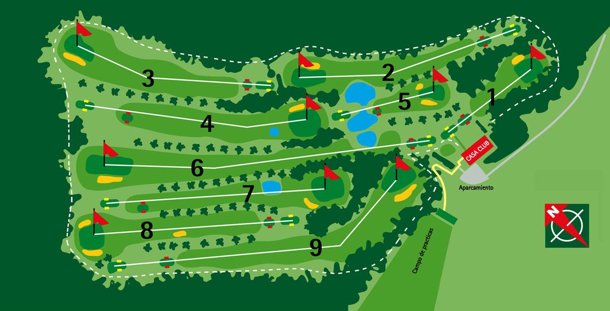Los hoyos de Zuia Golf
