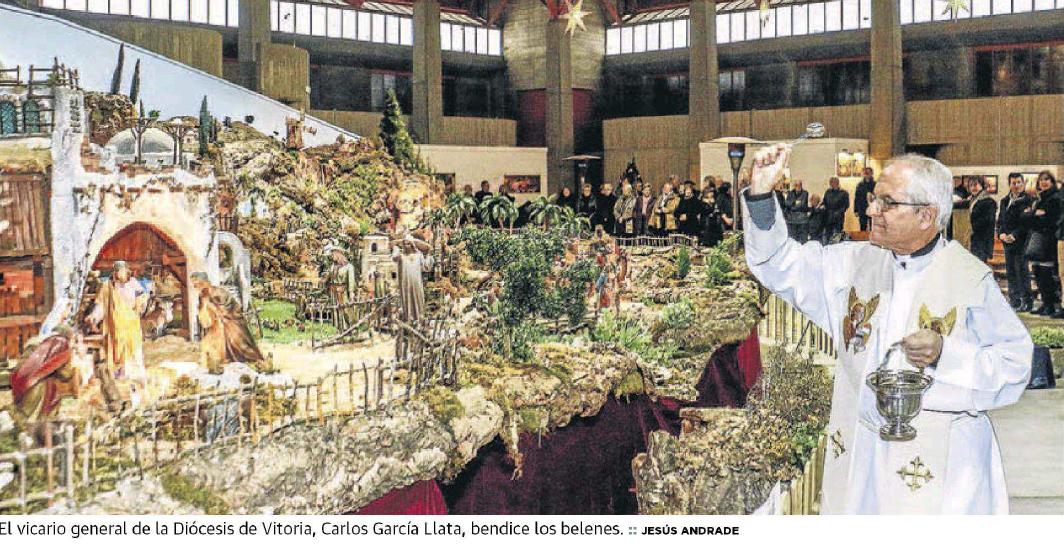 Inauguración de los Belenes en la Iglesia de San Francisco de Asís de Zaramaga
