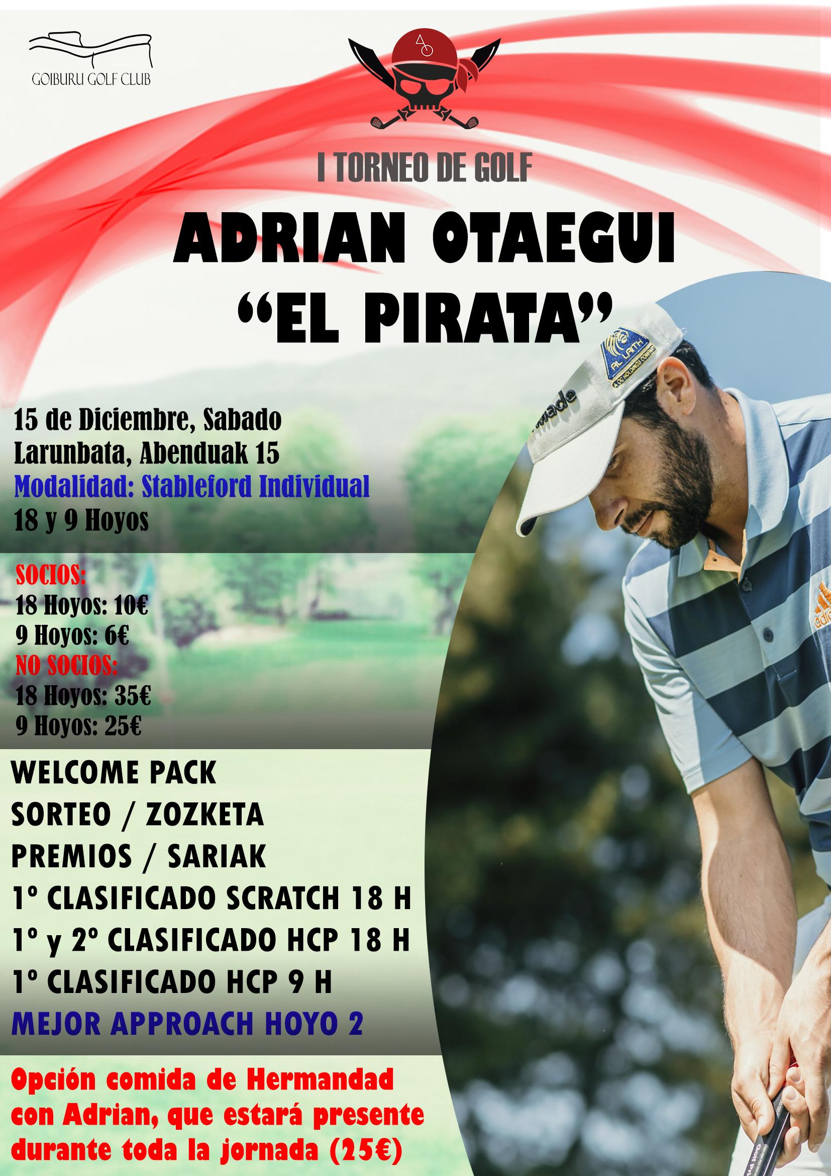 "I Torneo de Golf Adrián Otaegui ""El Pirata"""