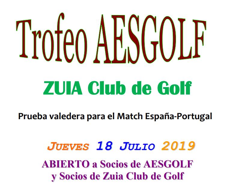 Jueves 18-jul: Trofeo AESGOLF