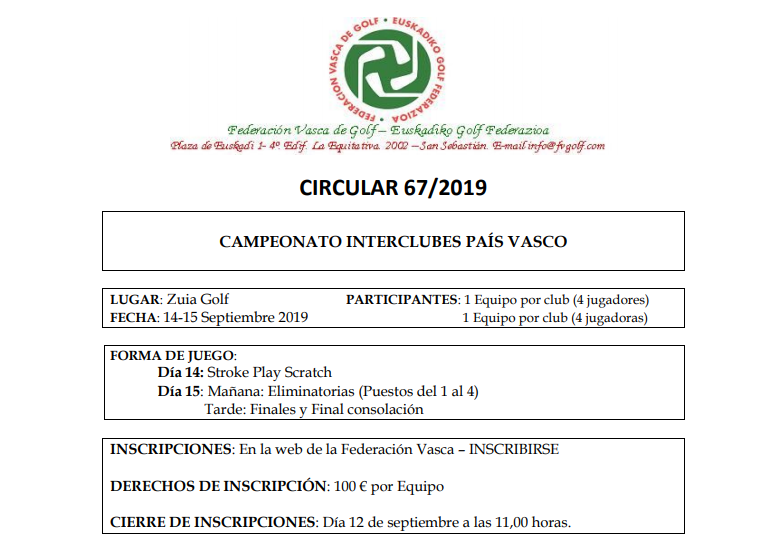 CAMPEONATO INTERCLUBES PAÍS VASCO
