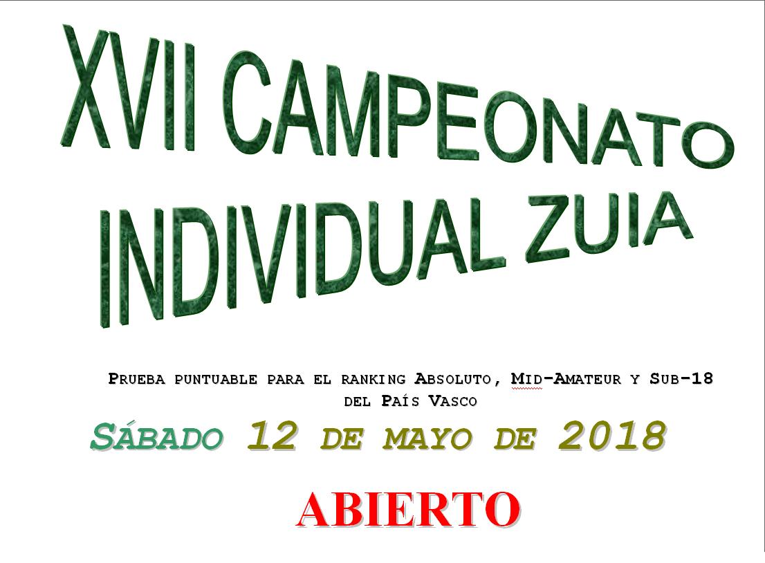 Sábado 12-mayo:  Campeonato absoluto de Zuia