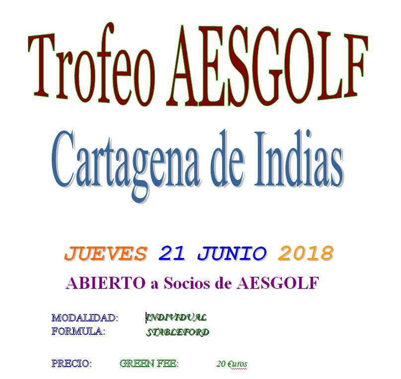 Jueves 21-junio: Trofeo AESGOLF Cartagena de Indias