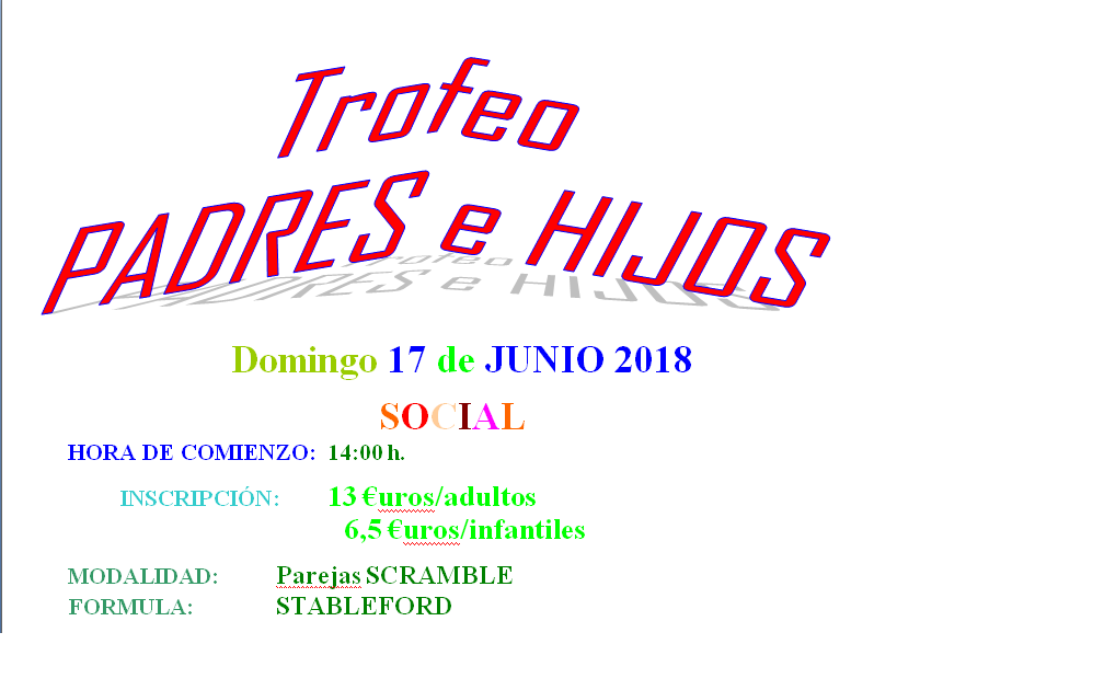 Domingo 17-junio: Trofeo Social Padres e Hijos