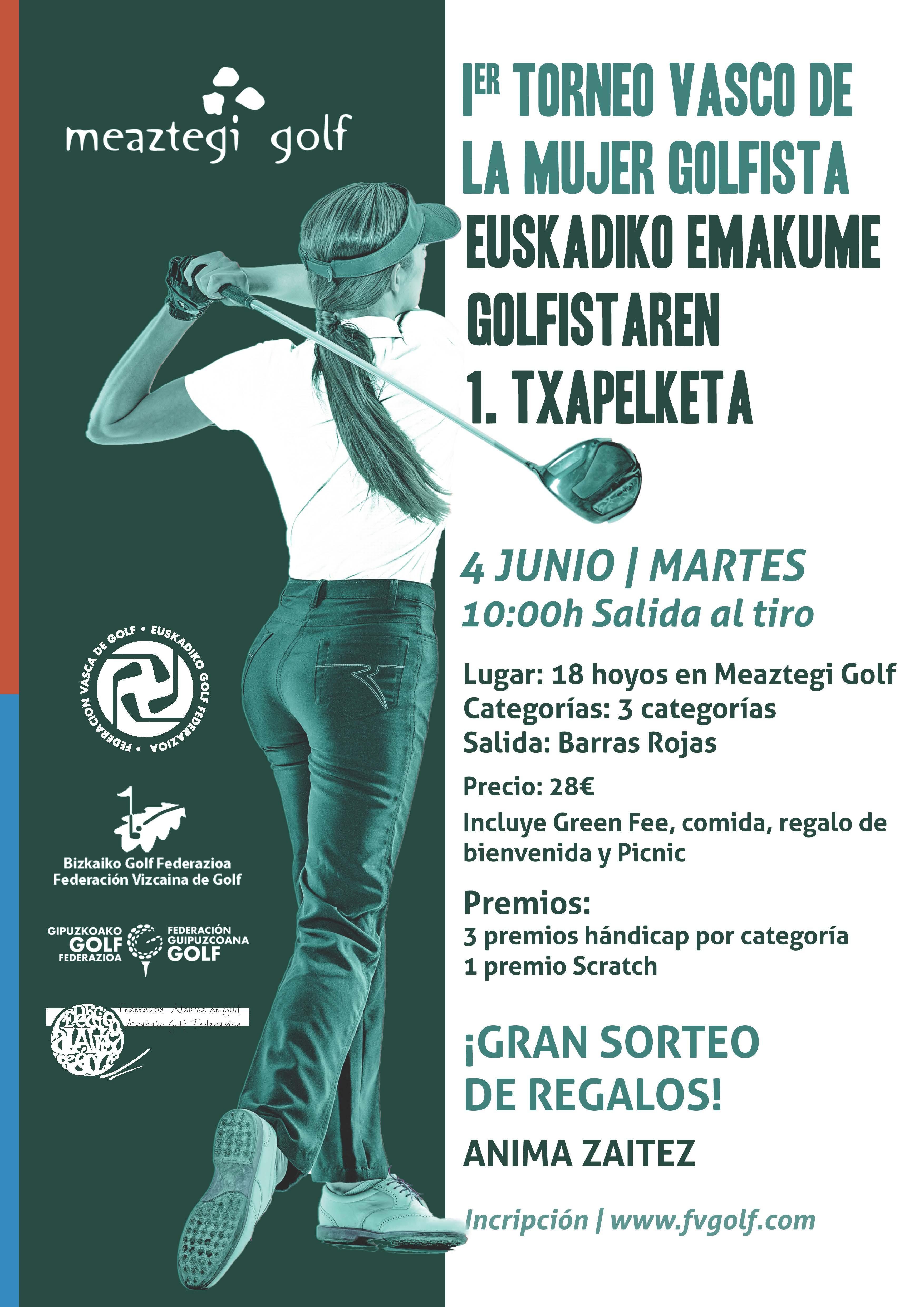 I Torneo País Vasco de la Mujer Golfista – 4 Junio Meaztegi Golf