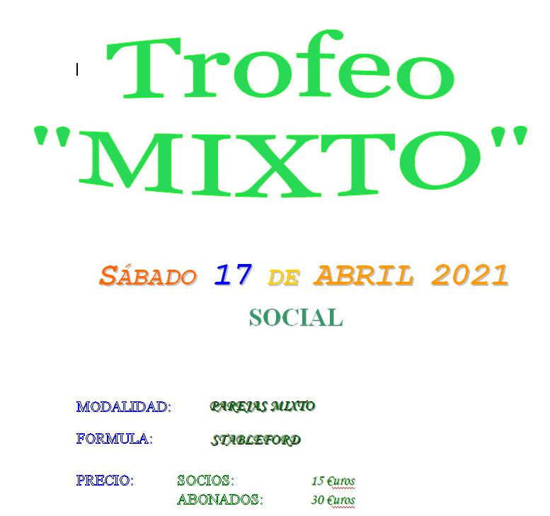 Trofeo MIXTO 2021