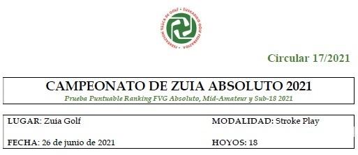 CAMPEONATO DE ZUIA ABSOLUTO 2021